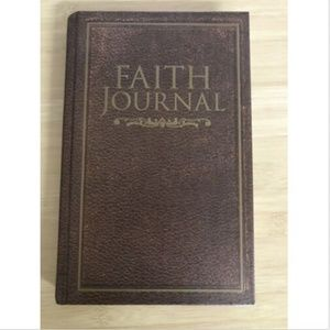 Faith Journal Bible Verse Religious Brown Reading